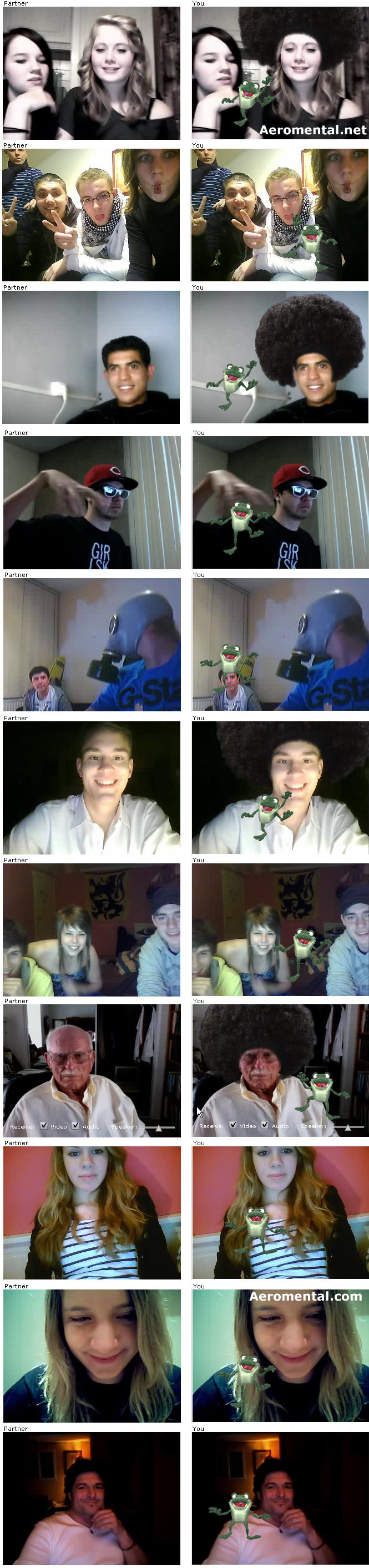 Chatroulette screenshots Dancing Frog
