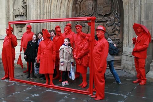 Red gathering