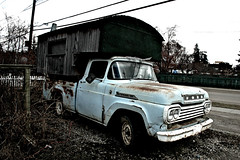 Mobile Home (sahlgoode) Tags: auto rot truck nikon rust edmonton d70 decay grunge ps rustbucket alberta vehicle cs4 hughlee 1959fordf100