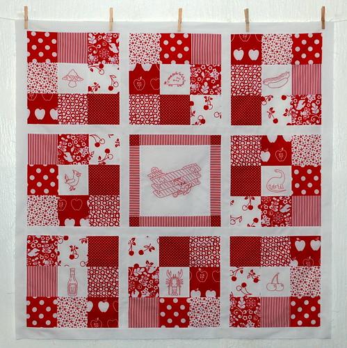 redwork quilt top