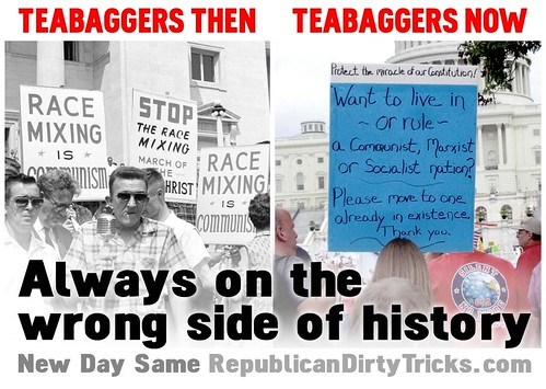 Teabaggers: Then and Now