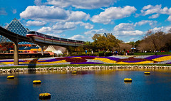Shore Is Pretty (DugJax) Tags: monorail waltdisneyworld epcotcenter futureworld flowergardenfestival journeyintoimagination monorailred efs1755mmf28isusm canonrebelxsi