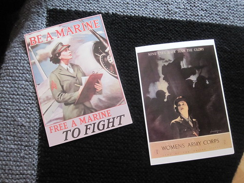Postcards honoring women in combat