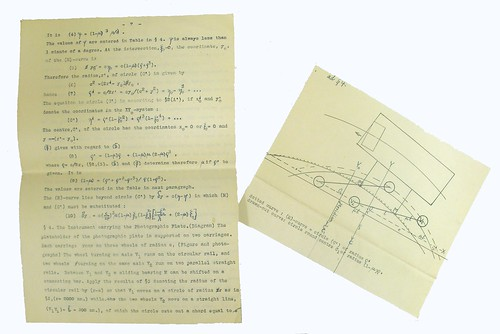 A Page Plus Additional Diagram from Becker's Paper on the Photographic Transit Instrument