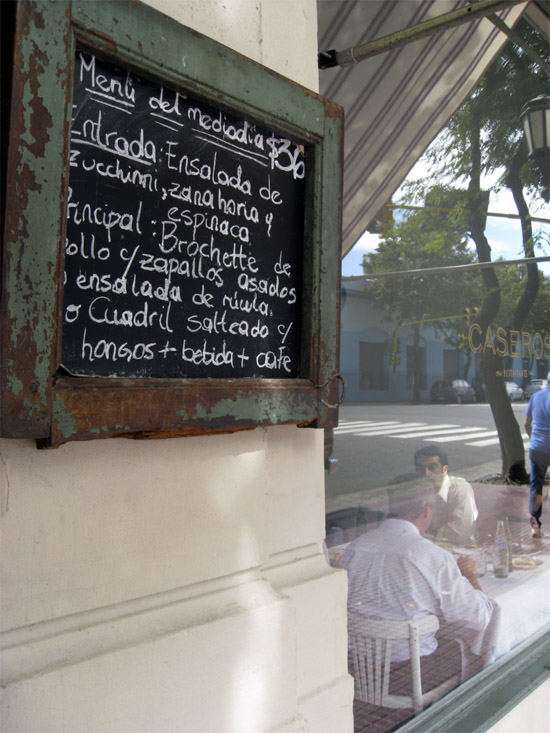 Lunch Menu at Caseros in San Telmo