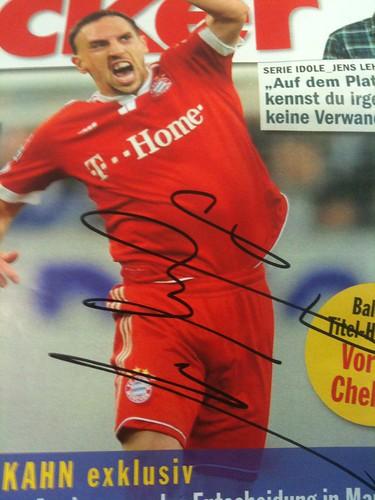 """Der """"kicker"""" mit Ribéry-Autogramm"""