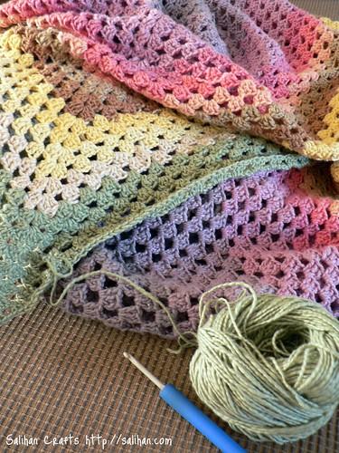 Granny Square Blanket WIP