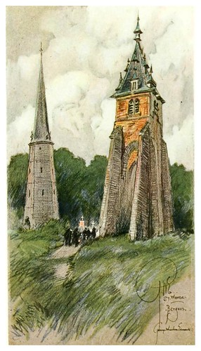 017- Campanario de San Winoc en Bergues-Vanished towers and chimes of Flanders 1916- Edwards George Wharton
