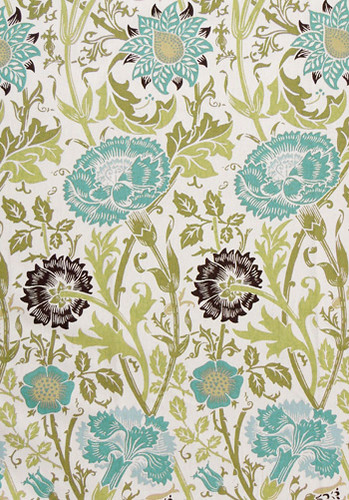 sweet_william_teal fabric Tonic Living
