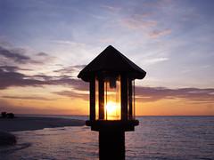 Sun Lantern (aharen) Tags: blue sunset sea sky orange sun yellow lantern maldives banyantree vabbinfaru
