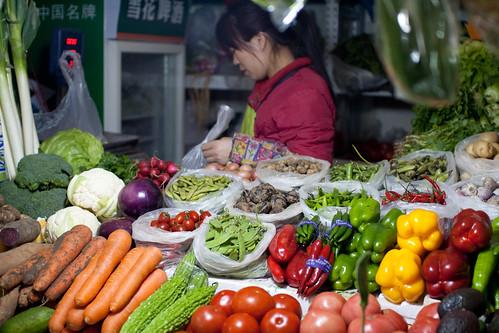 Fresh produce at Sanyuanli