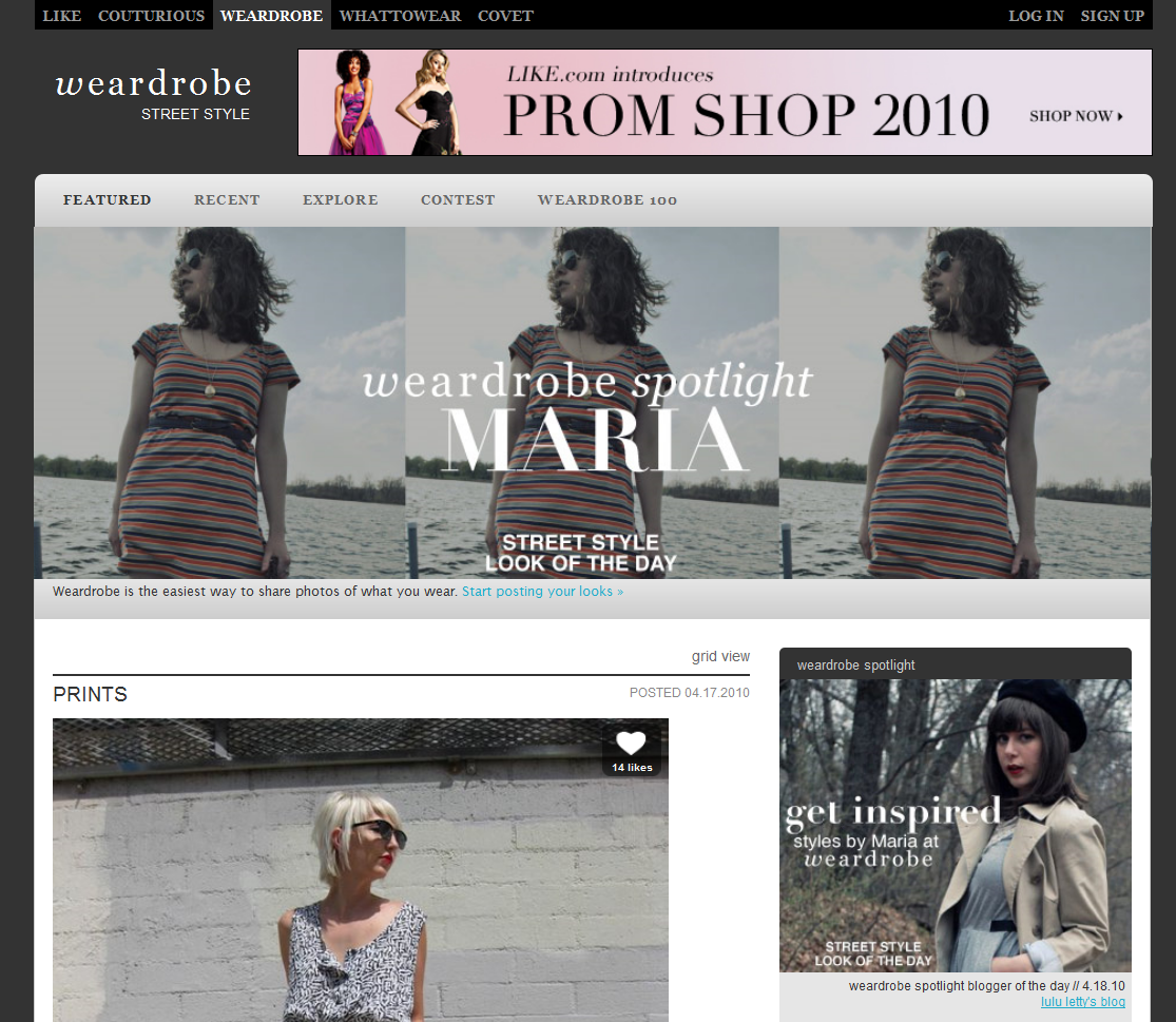 Weardrobe's Blogger Spotlight 04.18.10