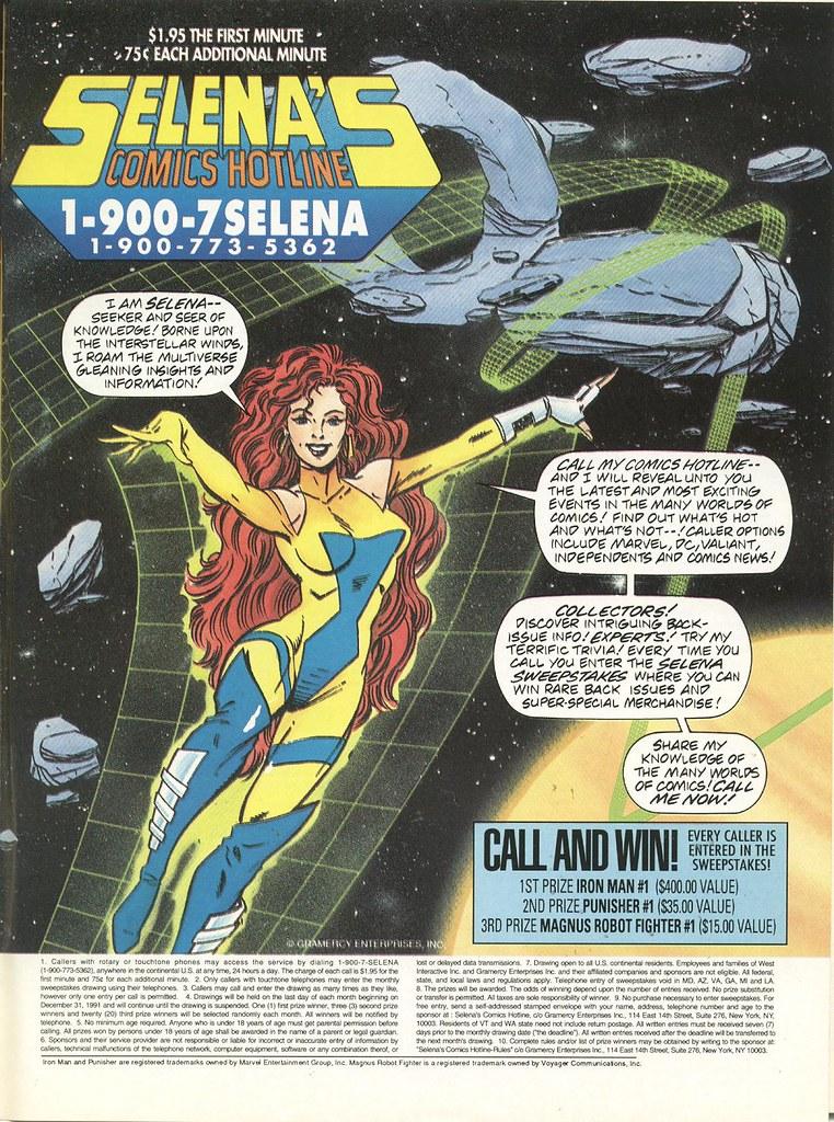 Selena's Comics Hotline