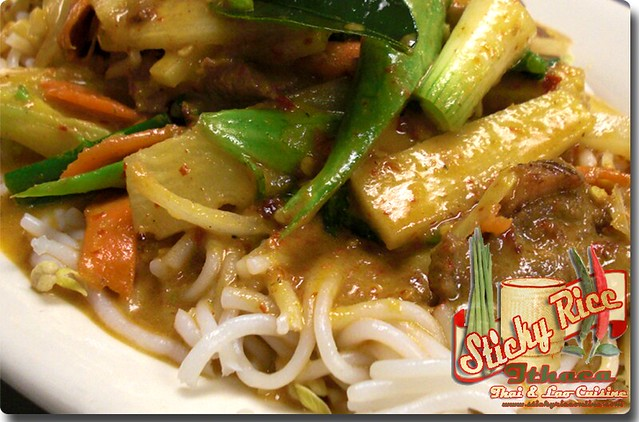 Rice Vermicelli with Coconut Curry Sauce (click on link below for pricing) by Sticky Rice Online