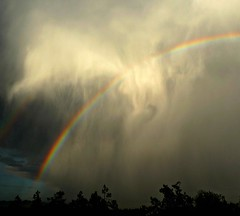 Storm Rainbow (Ph0tomas) Tags: storm newmexico lumix rainbow 1001nights socorro lx3 flickraward