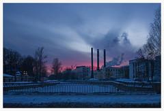 175 (AnkhaiStenn) Tags: bridge pink winter sunset sky cloud sun house snow tree ice home church window saint sunrise river dark russia snowdrift petersburg planet russian zima neva moika