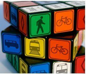 Sustainable Transportation logos, webpage at the University of California, Irvine, rubik cube