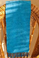 Wool Table Runner (❀Patti-Jo) Tags: blue texture wool tabby cricket yarn textile woven plain weaving weave loom chunky schacht handwoven fiberarts tablerunner rigid heddle