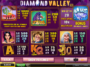 free Diamond Valley Pro slot mini symbol