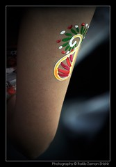 Boishakhi Alpona (Shishir Zaman) Tags: art girl tattoo paint arm culture elbow churi bangladeshi occassion alpona boishakh colorphotoaward