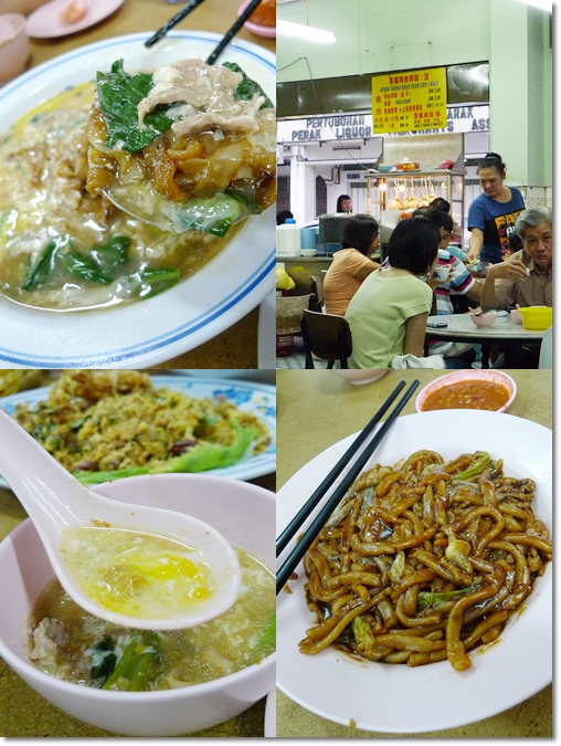 Collage of Fried Noodles @ Nam Kew