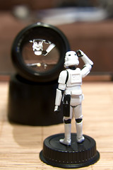 Not quite right (-spam-) Tags: glass canon lens toy 50mm starwars upsidedown bokeh 85mm plastic stormtrooper figurine optics spacetrooper 40d