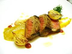 rib eye (vsperotto) Tags: dish angus meat mustard ribeye ojodebife mostardadijon fildecostela