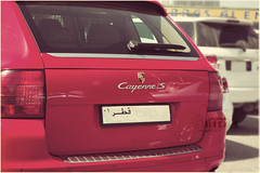 Ⓢ Cayenne S.. (- M7D . S h R a T y) Tags: red logo porsche cayennes wordsbyme ®allrightsreserved™
