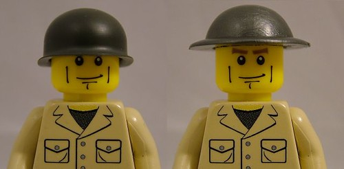 BrickArms M1 and Brodie Helmets Comparison - Front View