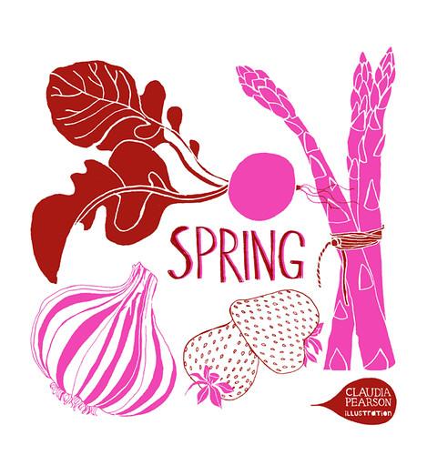 Spring tote pink design
