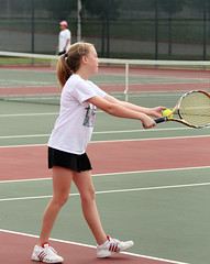 Kirsten Tennis 1162 05-01-10 (Richard Wayne Photography) Tags: girls sara texas tennis tournament mansfield 2010 zat