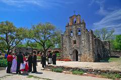 Mexican Wedding-Espada Mission-San Antonio-Texas-April 2009 (Gleb Tarro - www.fotowalk.com) Tags: wedding people church sanantonio mexico groom bride catholic texas mission priest espada mywinners