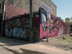 this building looks rad. (.indigo.) Tags: streetart art vancouver graffiti other stencil indigo take5 faith47 peeta titifreak paintyourfaith
