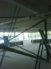 Het plafond wordt opnieuw uitgemeten (d-Tail Company) Tags: company 24 pieter verbouwing nieuwe pand dtail ghijsenlaan