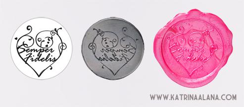 Semper Fidelis Custom Wax Seal