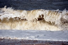 Big surf at Cley-next-the-Sea