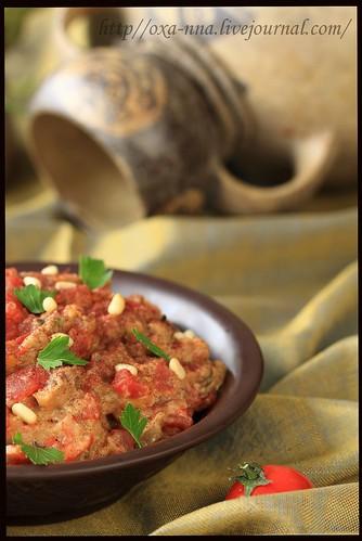 Салат из баклажан с тхиной