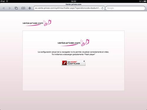 vente-privee.com en un iPad