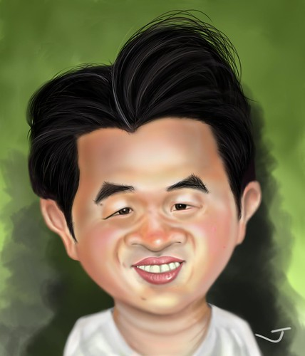 My caricature by caricaturist Moises Vargas - original size
