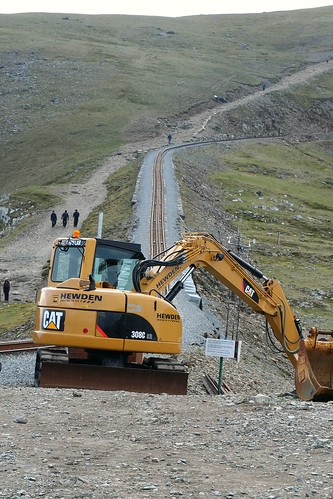 Caterpillar 308C Excavator near summit of Snowdon