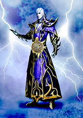 drow wizard lightning (twen5) Tags: male wizard lightning sorcerer genasi stormsoul