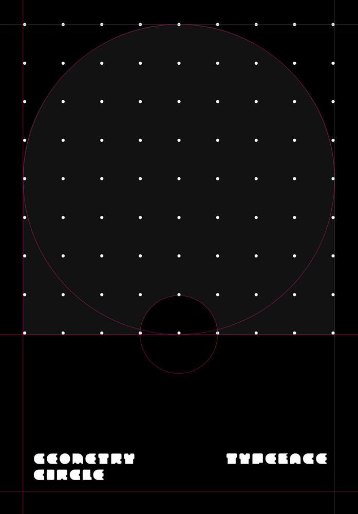 Geometry Circle Typeface Poster