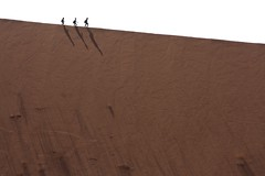 20090830 Sossusvlei 285 (blogmulo) Tags: africa travel silhouette trek canon daddy dead big sand dune arena viajes silueta duna namibia 2009 sossusvlei vlei canon450d blogmulo