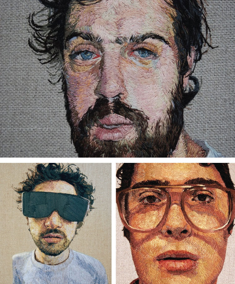 Embroidered Portraits by Kornrumpf