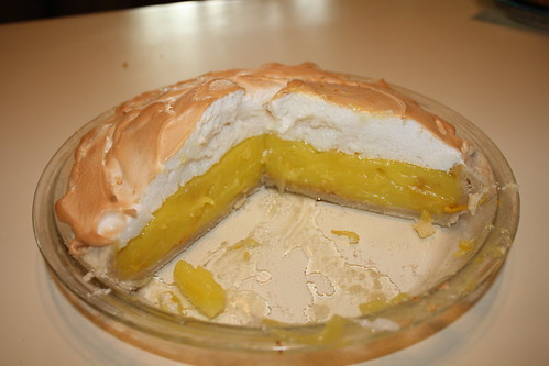 Lemon Meringue Pie Cut