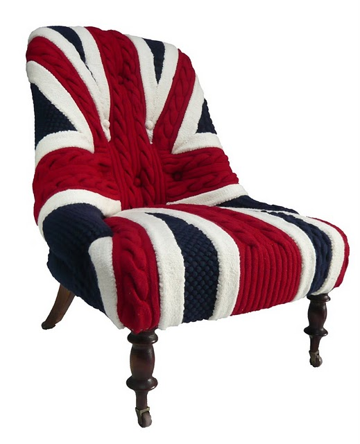 melanie porter union jack knit cover chair