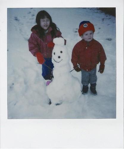 Cadie, Jack, snowman