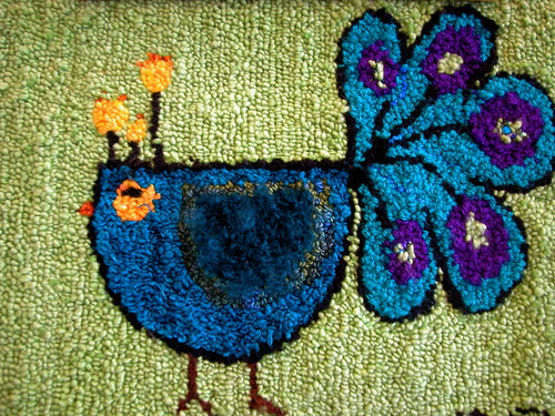 rug hooking @ the knit cafe