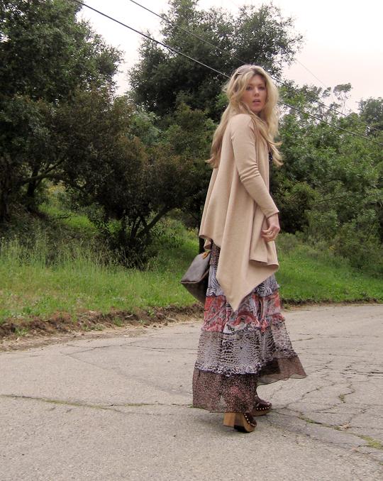miu miu sandal clogs+ 70s dress-2