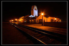 Boise Train Depot at Night (Dylan MacMaster) Tags: night train nightscape shot tracks boise depot 1022mm fotocompetition fotocompetitionbronze fotocompetitionsilver fotocompetitiongold